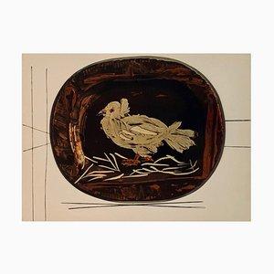 Vintage Ceramic Print of Dove after Pablo Picasso