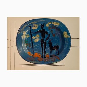 Vintage Ceramic Print of Shepherd after Pablo Picasso