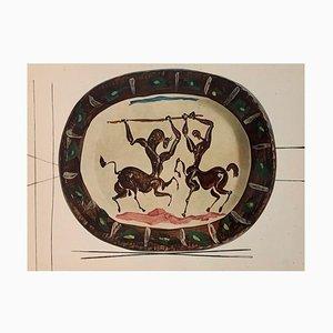 Gravure Vintage du Centaure en Céramique par Pablo Picasso