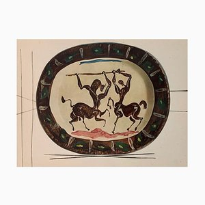 Vintage Ceramic Print of Centaur after Pablo Picasso