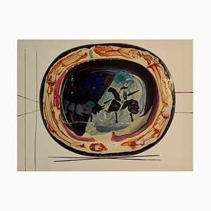 Vintage Ceramic Print of Picador after Pablo Picasso