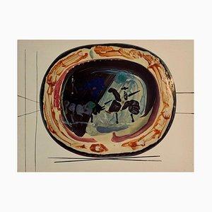 Vintage Ceramic Print of Picador after Pablo Picasso