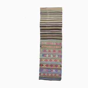 Handgefertigter Kilim Türkischer Vintage Wollteppich