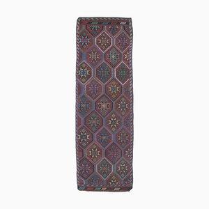 Turkish Vintage Kilim Handmade Wool Flatweave Rug