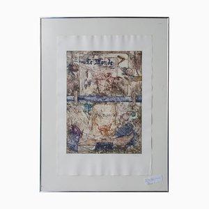 Alberto Valverde Travieso, grabado sobre papel, España, años 60