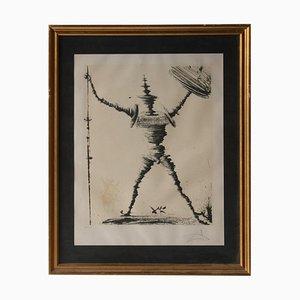 Salvador Dali, Don Quichotte de La Mancha, Lithographie, Espagne, 1985