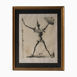 Salvador Dali, Don Quixote von La Mancha, Lithographie, Spanien, 1985