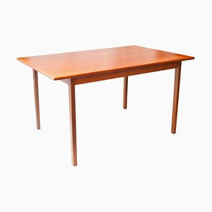 Mid-Century Rectangular Teak Wood Swedish Dining Table, 1960s