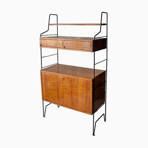 Mid-Century Rectangular Brown Metallic Italian Shelves by Isa Bergamo, 1950s
