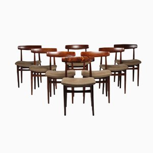 Norwegian Dining Chairs by Fredrik Kayser, Set of 8