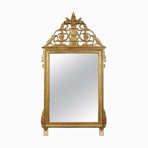 Gold Foil Hand-Carved Wooden Rectangular Mirror, 1970