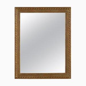 Specchio rettangolare in legno intagliato a mano, anni '70