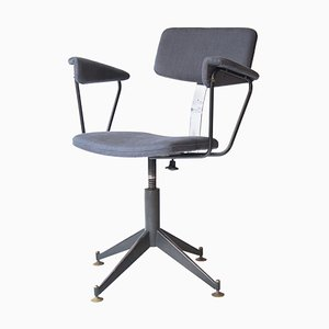 Mid-Century Metal Brass Cotton Swivel Chair, Germany, 1930s