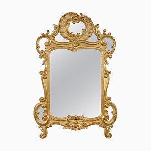 Specchio in legno intagliato a mano, anni '70