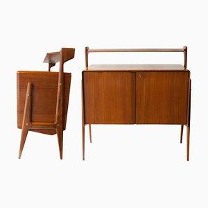 Mid-Century Rectangular Italian Sideboards, 1950s, Set of 2
