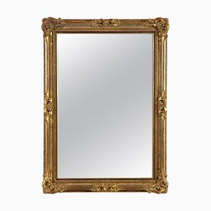 Gold Hand-Carved Wooden Mirror, 1970s