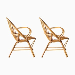 Mid-Century Bamboo Armchairs, France, 1970s, Set of 2