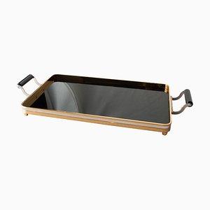 Steel Brass Bakelite Tray, Spain, 1970s