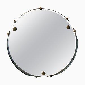 Mid-Century Modern Round Brass Wall Mirror, Italy, 1960