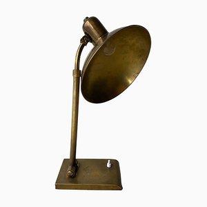 Mid-Century Modern Brass Rounded Desk Lamp, France, 1950