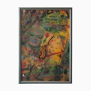 Pietro Psaier, Marilyn Monroe, Mischtechnik auf Holz, Kalifornien, 1986