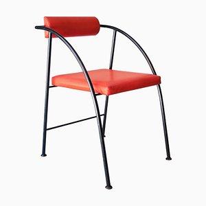 Black & Red Metal Vienna Chair by Rodney Kinsman, United Kingdom, 1980