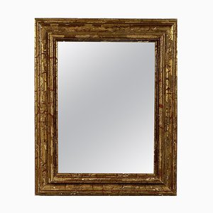 Neoclassical Empire Rectangular Gold Hand-Carved Wooden Mirror