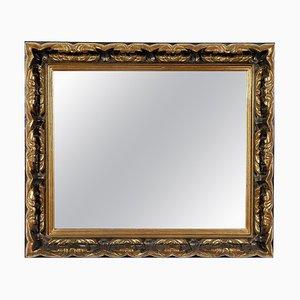 Neoklassizistischer Regency Handgeschnitzter goldener Holz Spiegel