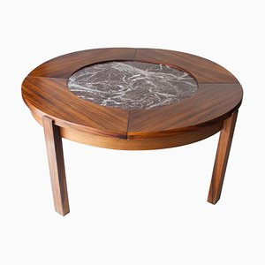 Mid-Century Round Marble Coffee Table, France, 1970