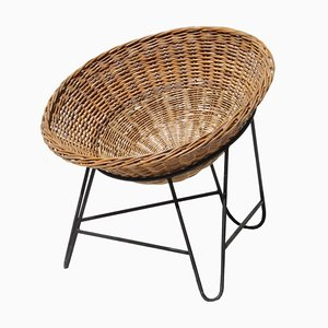 Wicker Chair in the Style of Mathieu Matégot, France, 1950