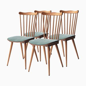 Mid-Century French Dining Chairs from Baumann House, 1950s, Set of 4