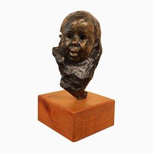 Victor Prouvé, testa di Child Bronze, collezione Old Jean Prouvé