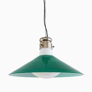 Mid-Century Italian Green Murano Glass Pendant Lamp by Alessandro Pianon for Vistosi