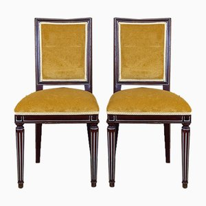 Spanish Louis XVI Style Side Chairs, 1940s, Set of 2