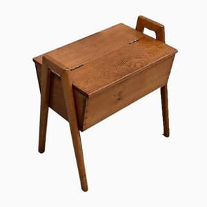 Small Oak Sewing Chest, 1960s