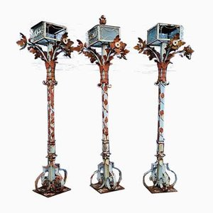 Lanterne da patio vintage egiziane, anni '60, set di 3