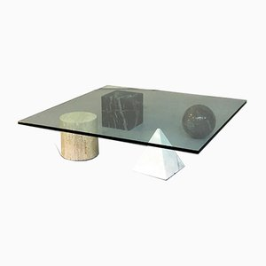 Table Basse Metaphor par Massimo et Lella Vignelli pour Casigliani, Italie, 1979