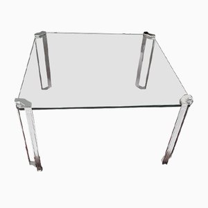 T24 Coffee Table with Chrome Legs by Peter Ghyczy, 1970s
