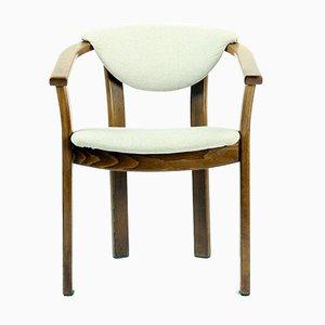 Tschechoslowakischer Armlehnstuhl aus Holz, 1970er