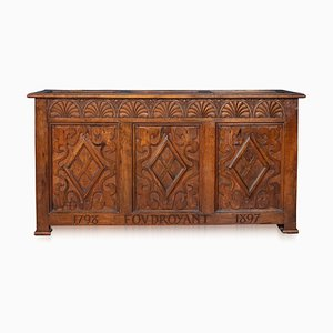 Oak Chest from the Foudroyant, Lord Nelson's Flagship, 1890s