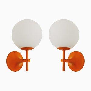 Sputnik Wandleuchten von Max Bill für Temde, 1960er, 2er Set