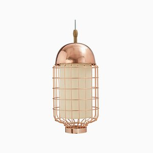 Magnolia II Suspension Lamp with Brass or Copper Structure by Utu Soulful Lighting