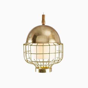 Lampe à Suspension Magnolia III avec Plateau en Laiton et Cuivre par Utu Soulful Lighting