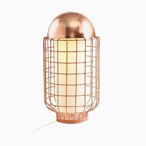 Lampe de Bureau Magnolia avec Plateau en Laiton ou Cuivre par Utu Soulful Lighting