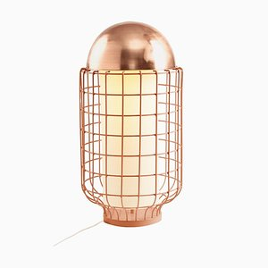 Magnolia Table Lamp with Brass or Copper Top by Utu Soulful Lighting