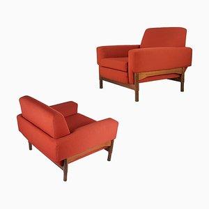 Rosewood Kiushu Lounge Chairs by Sergio Saporiti for Fratelli Saporiti, 1960s, Set of 2