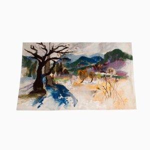 Wall Tapestry Landschaft Glottertal by Zoja Elchlepp, 1981