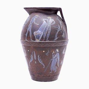 Terrakotta Urne aus dem 20. Jahrhundert von Angelo Ricceri