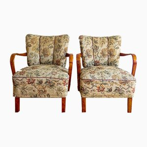 Mid-Century H-237 Armchairs by Jindřich Halabala for UP Závody, Set of 2