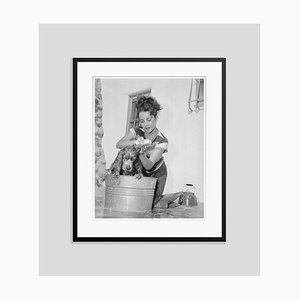 Young Elizabeth Taylor Archival Pigment Print Framed in Black by Bettmann